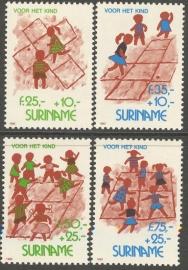 Suriname Republiek  786/789 Kinderzegels 1993 Postfris