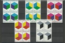 Nvph 978/982 Kinderzegels 1970 in Blokken Postfris