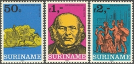 Suriname Republiek 205/207 Int. Postzegeltent. Londen 1980 Postfris