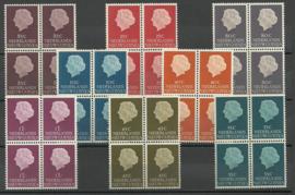 Nieuw Guinea 30/37 Koningin Juliana Postfris (blokken van 4)