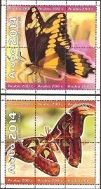 Aruba 770/771 Vlinders 2014 Postfris