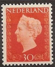 Nvph 484 30 ct Wilhelmina Hartz Postfris