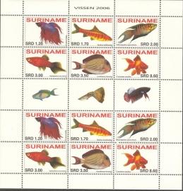 Suriname Republiek 1395/1400VBP Vissen 2006 Postfris (Compleet vel)