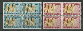 Nvph 784/785 Anti Honger Jaar 1963 in Blokken Postfris
