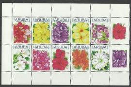 Aruba 514/523 Bloemen 2011 Postfris