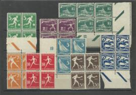 Nvph 212/219  Olympiade 1928 in blokken van 4 Postfris (2)