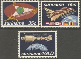 Suriname Republiek 280/282 Ruimtevaart 1982 Postfris