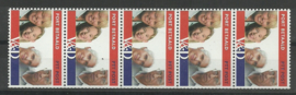 Port Betaald   8 5 Strip Postfris