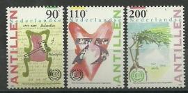 Nederlandse Antillen 1063/1065 Int. Arbeidsorganisatie Postfris