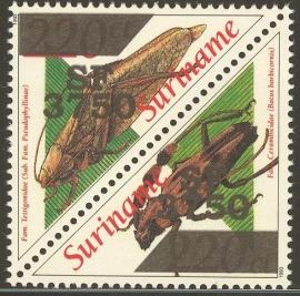 Suriname Republiek 1165/1166 Sprinkhanen Hulpuitgifte 2002 Postfris