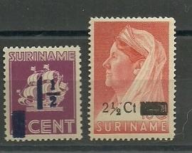 Suriname 245/246 Hulpuitgifte Postfris (koopje)