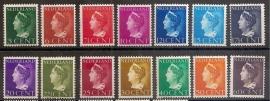 Nvph 332/345 Konijnenburg Postfris
