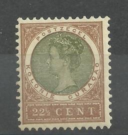 Curacao  38 22½ct  Koningin Wilhelmina Veth Ongebruikt