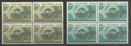 Nvph 840/841 100 jaar  I.T.U.in blokken Postfris