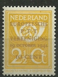 Nvph 404 Europese PTT Vereniging Postfris