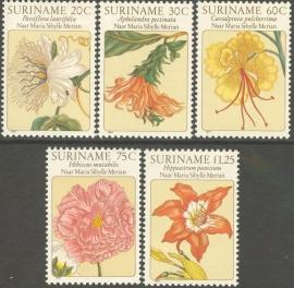 Suriname Republiek 237/241 Bijzondere Bloemen 1981 Postfris