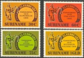 Suriname Republiek 242/245 De 4 Vernieuwingen 1981 Postfris