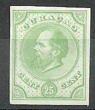 Curaçao   5b  groen 25ct Berlijnse Kleurproef Ongebruikt (1)