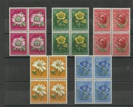 Nvph 583/587 Zomerzegels 1952 in Blokken Postfris