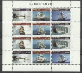 Aruba V568/573 Klassieke Zeilschepen 2011 Postfris  (Compleet Vel)