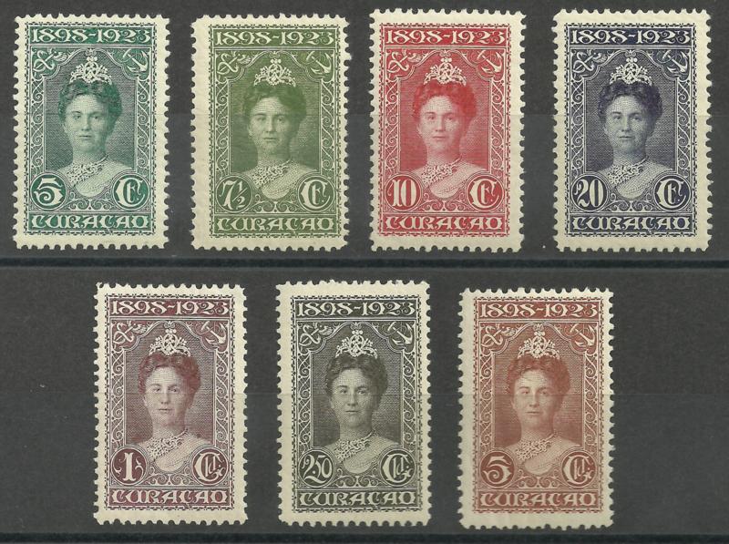Curacao  75/81 25 Jarig Regeringsjubileum Postfris + Certificaat (2)