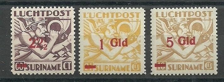 Suriname LP24/26 Luchtpost Uitgifte 1941 Ongebruikt