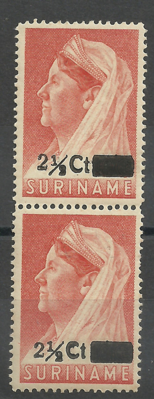 Suriname 246 + 246a Hulpuitgifte in paar Postfris