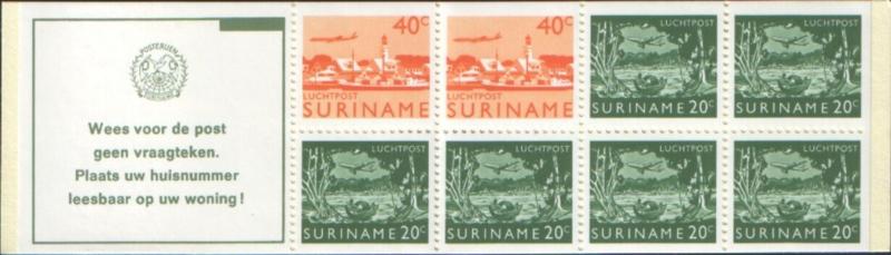 SR Postzegelboekje 3bq Postfris
