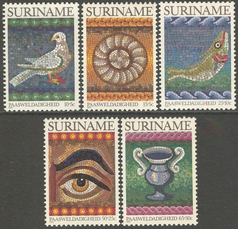 Suriname Republiek 337/341 Paasweldadigheid 1983 Postfris