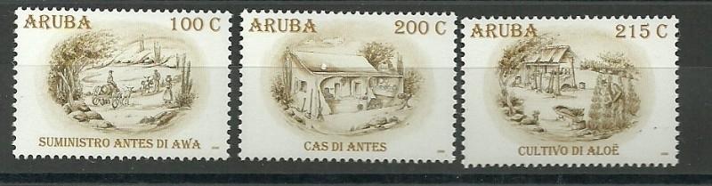 Aruba 414/416 Aruba in het Verleden Postfris