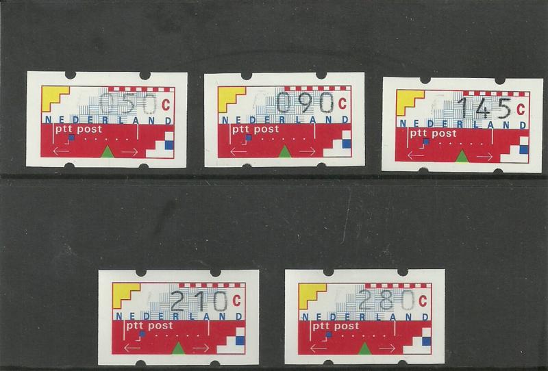 Supplement Klussendorf 1993 op het originele kaartje Postfris