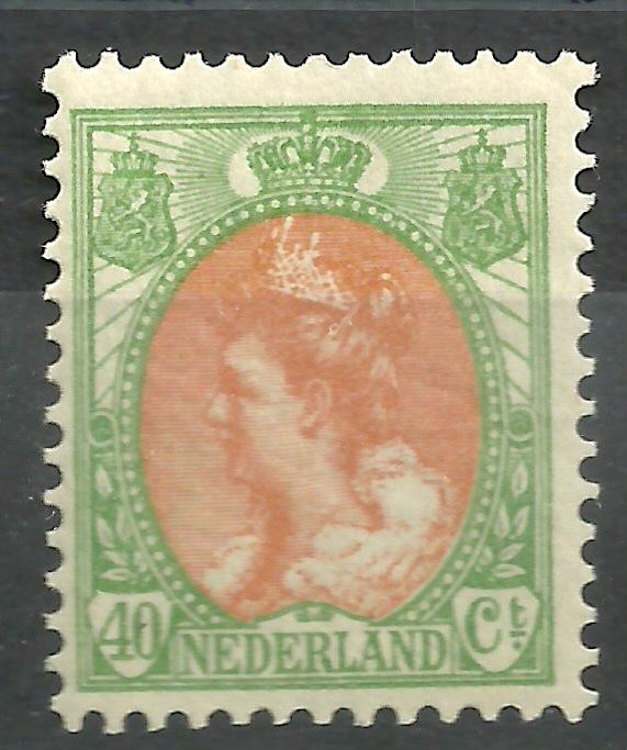 Nvph  73 40ct  Koningin Wilhelmina Bontkraag Postfris (2)