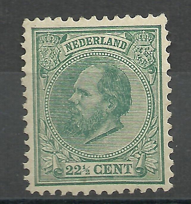 Nvph  25 22½ ct Koning Willem III 1872-1888 Ongebruikt