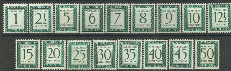 Nederlandse Antillen 44/60 Waarde in Rechthoek Postfris