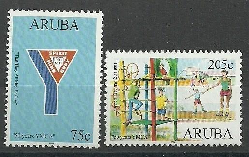 Aruba 358/359 50jaar YMCA Postfris