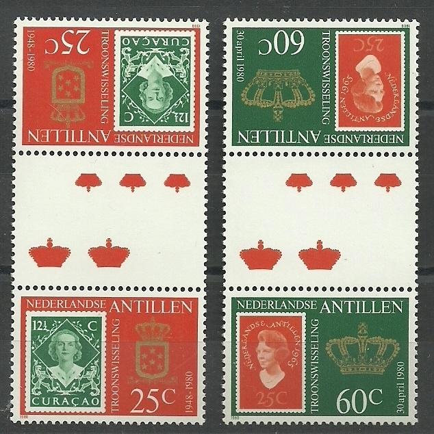 Nederlandse Antillen  654b/655b Postfris (2)