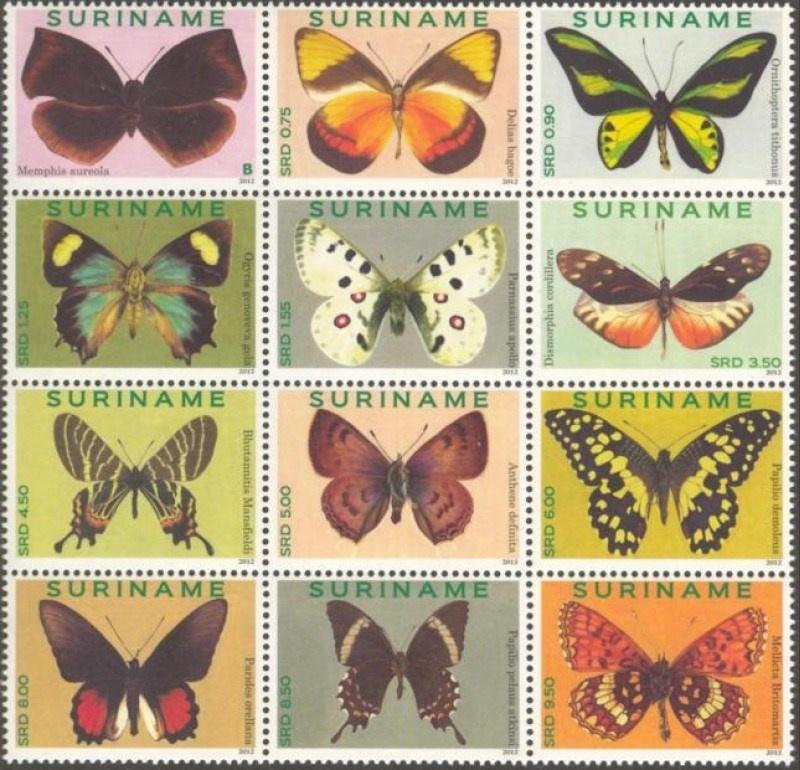 Suriname Republiek  1862/1872 Vlinders 2012 Postfris
