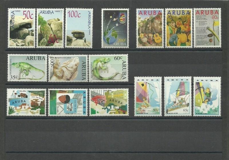 Complete Jaargang Aruba 1993 Postfris