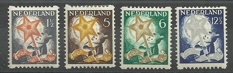 Roltanding 98/101 Kinderzegels 1933 Ongebruikt