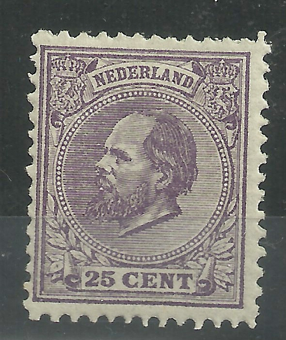 Nvph  26H 25 ct  (12½×12) Koning Willem III 1872-1888 Ongebruikt + Certificaat