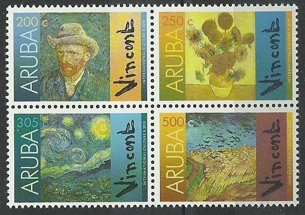 Aruba 450/453 Vincent van Gogh Postfris