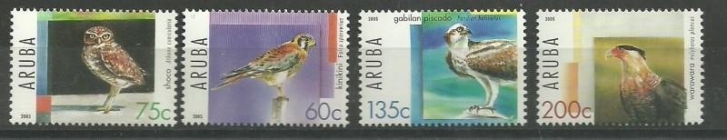 Aruba 343/346 Roofvogels Postfris