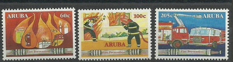 Aruba 366/368 Brandweer Postfris
