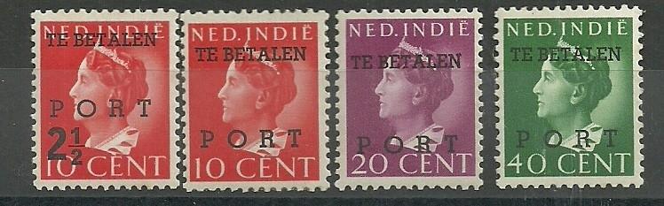 Nederlands Indië Port 49/52 Ongebruikt
