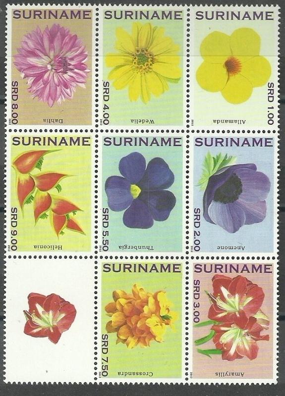 Suriname Republiek  1881/1888 Bloemen 2012 Postfris