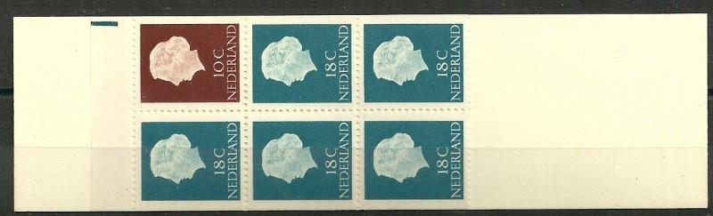 PZB  3yW Postfris + Registerstreep (Blauw breed - Boven)