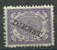 Nederlands Indië Dienst  9 ½ct (1883 / 1902-1909) Ongebruikt