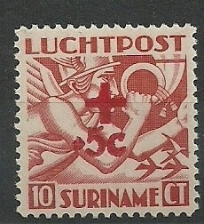 Suriname LP23 Rode Kruiszegel Postfris