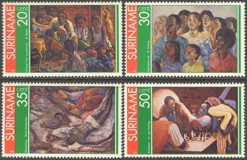 Suriname Republiek  37/40 Surinaamse Schilders 1976 Postfris