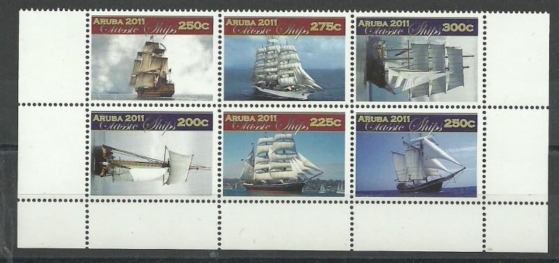 Aruba 568/573 Klassieke Zeilschepen 2011 Postfris